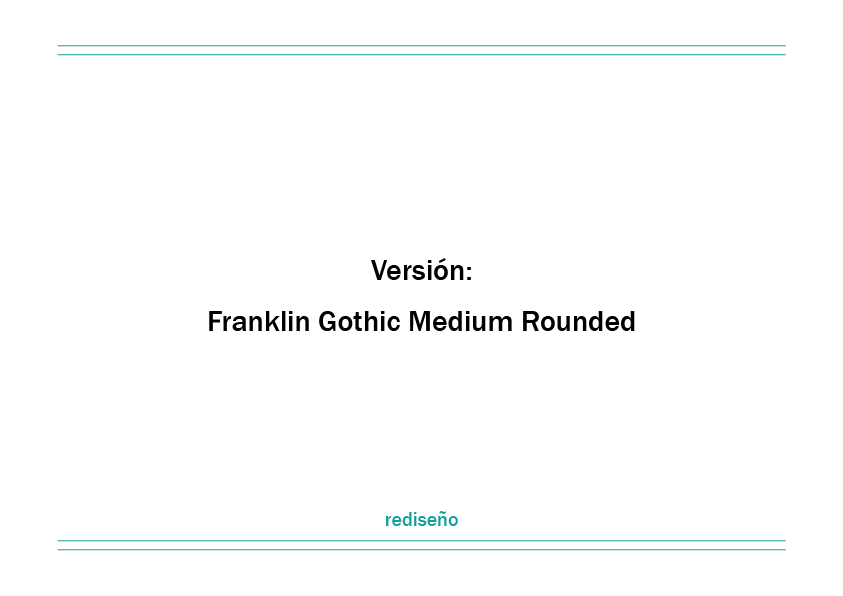 Franklin Gothic Rounded - Antea Domínguez