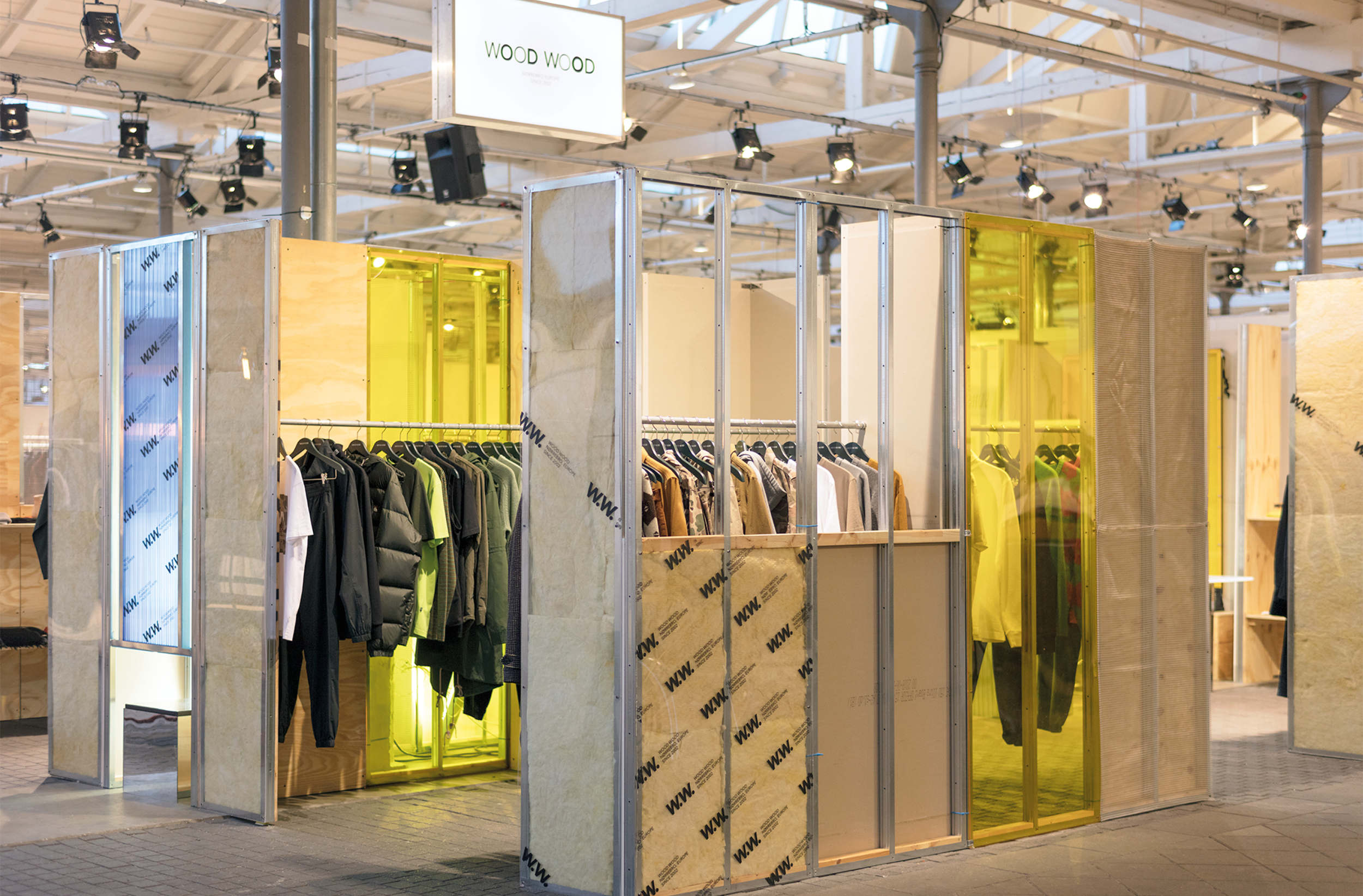 Exhibition Stand Clothes : Wood wood revolver exhibition booth spacon & x