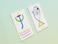 Creation Dun Logo Et De Cartes Visite Colorees Pour La Jeune Psychomotricienne Julia Devilliers