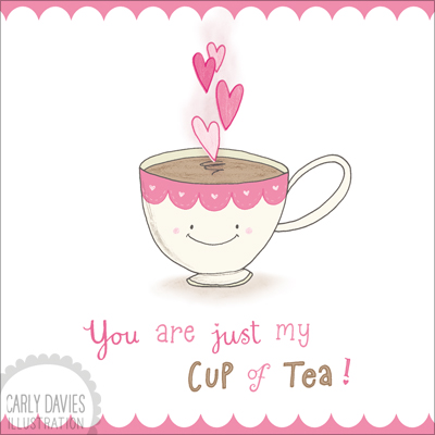 Valentine Greeting Cards Carly Davies Illustration