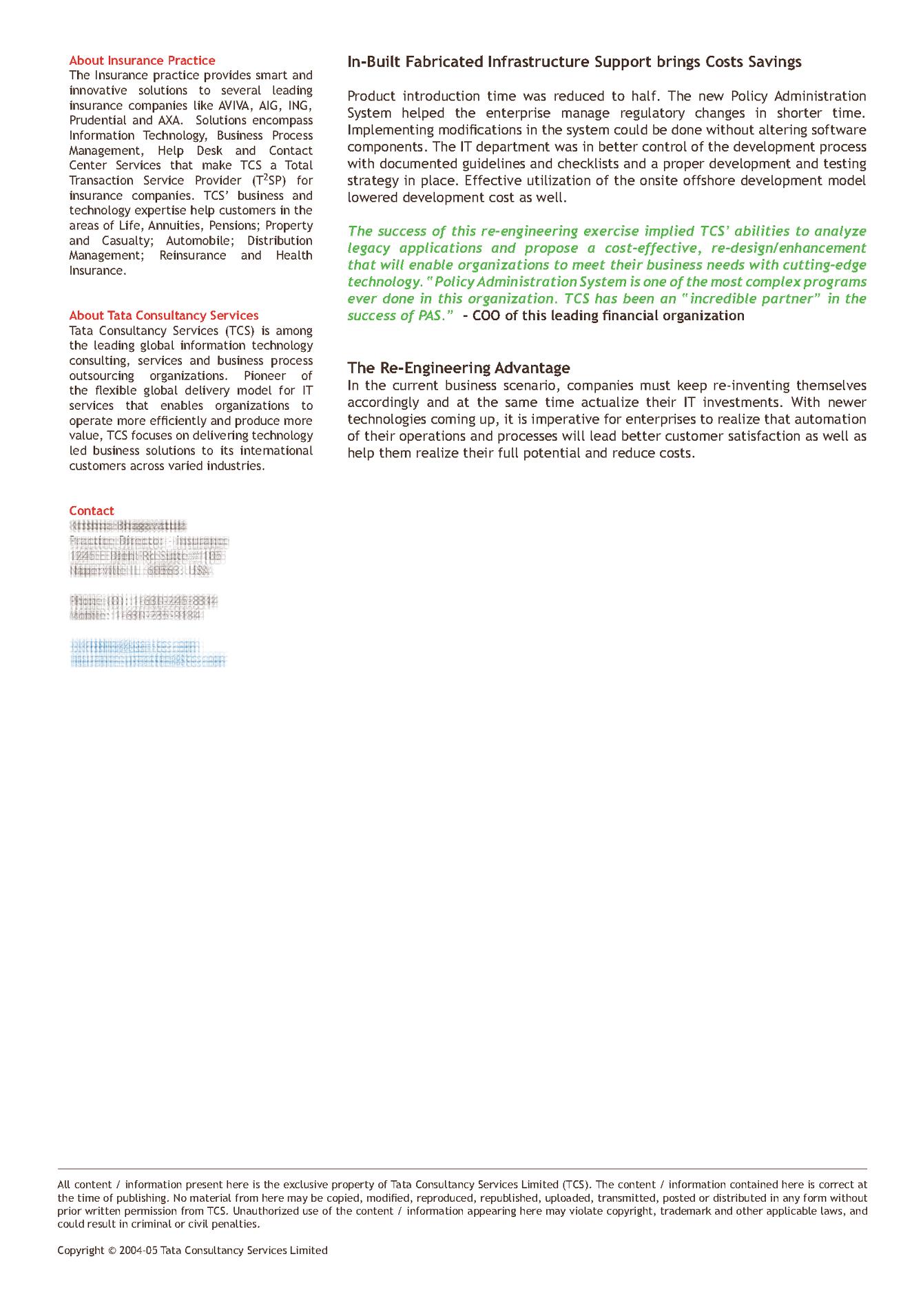 TCS Marketing Collateral - Bhooshan Pandya - Design Thinker