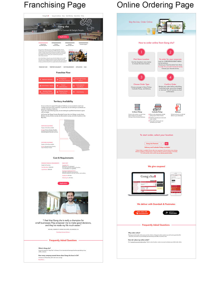 Gong Cha Website Redesign - VisualStew