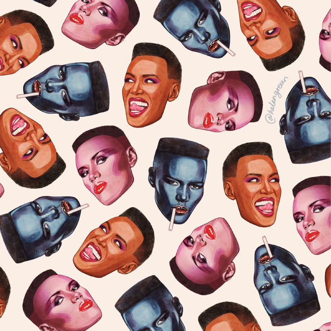 Grace Jones Helen Green Illustration
