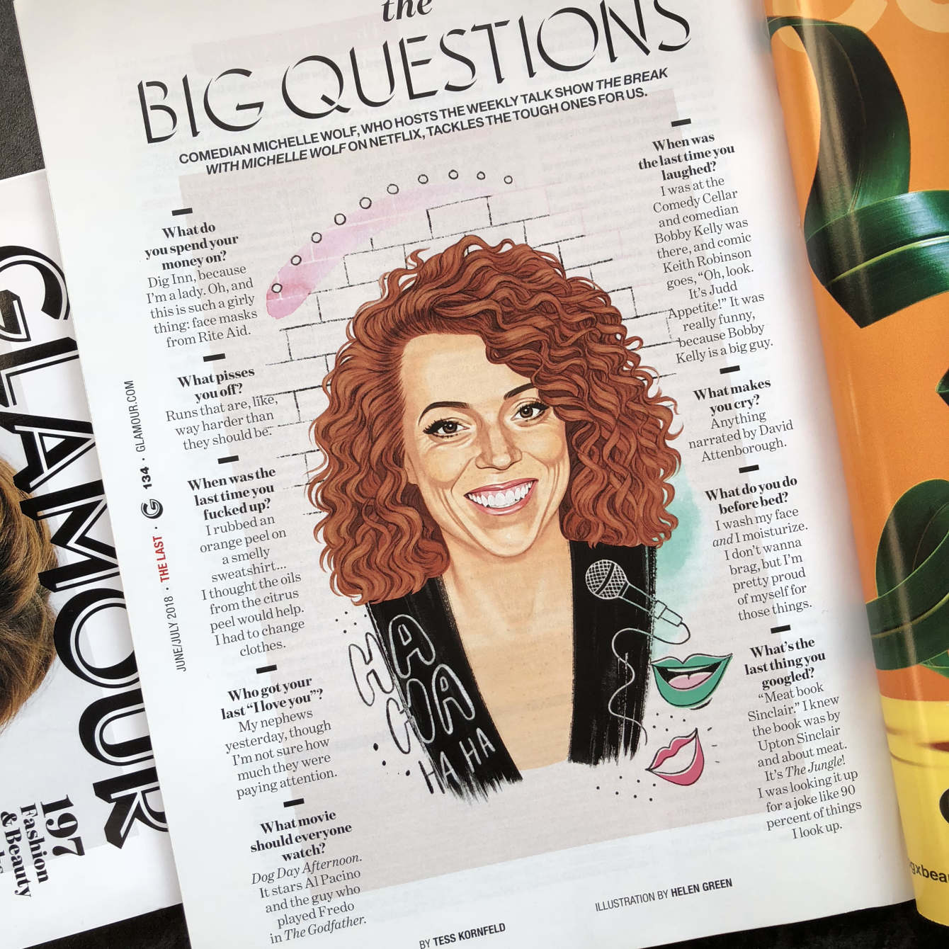 Michelle Wolf - Glamour - Helen Green Illustration