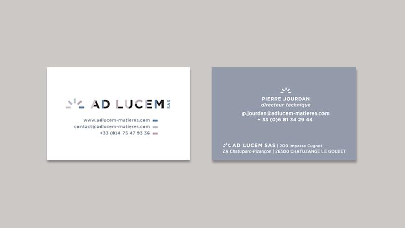 Creation Du Logo Et Packaging Des Produits Derives De Lentreprise Ad Lucem Fabriquant Revetements Colores Pour Les Sols Murs