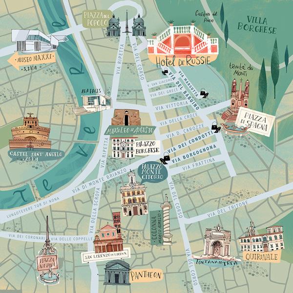 ROME'S MAP - flavia sorrentino on