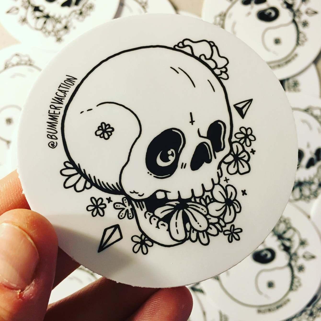 Skull Sticker - Kyle Knapp Art and Design