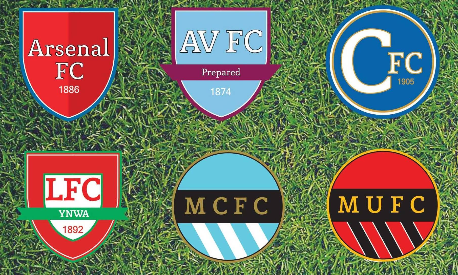Minimalistic Premier League Badges 2012/2013 - BenCheng