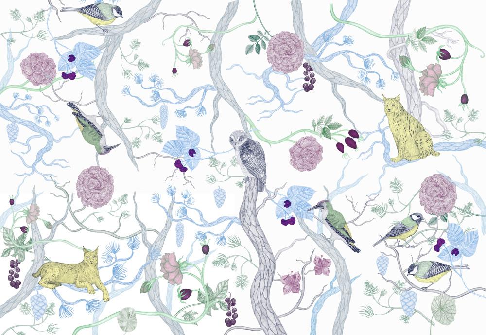 Ena Salon, Nordic Forest - Studio Lofstrom Illustration