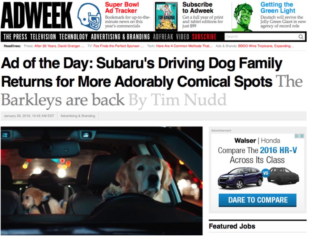 Who Owns Subaru >> Subaru Nick Hart Copywriter