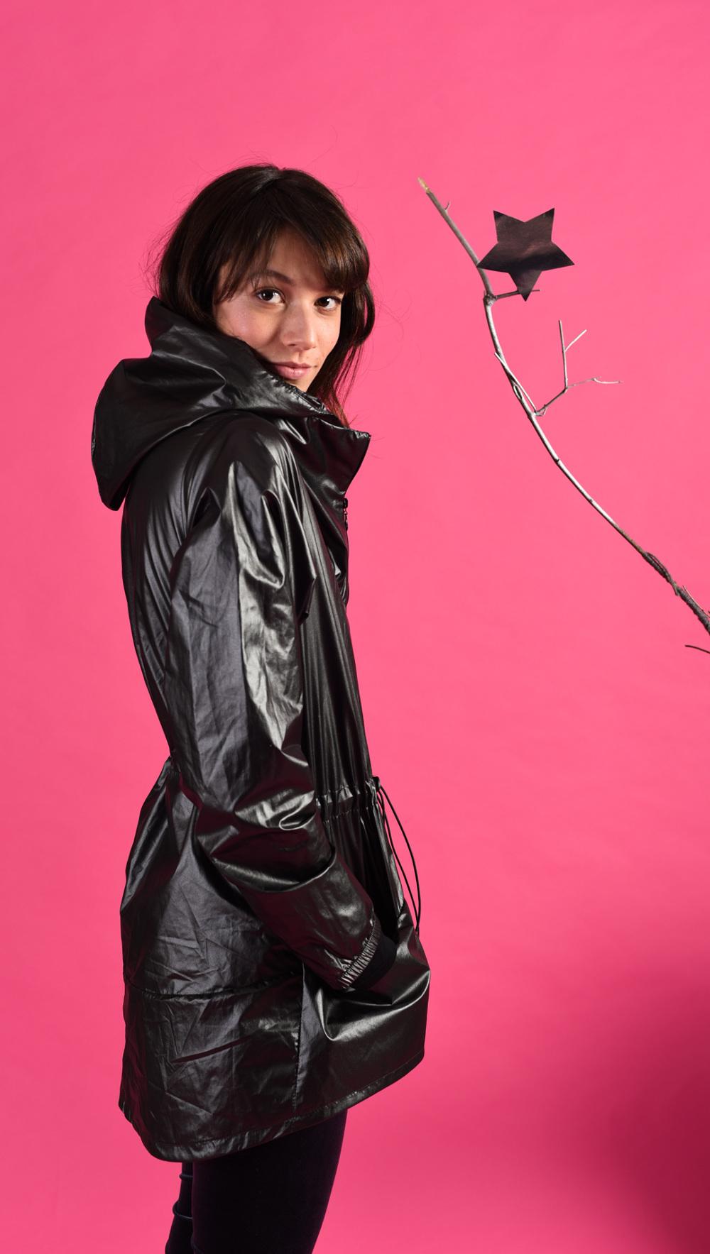 4d9d58c5f0 Black shiny raincoat - welovefuss