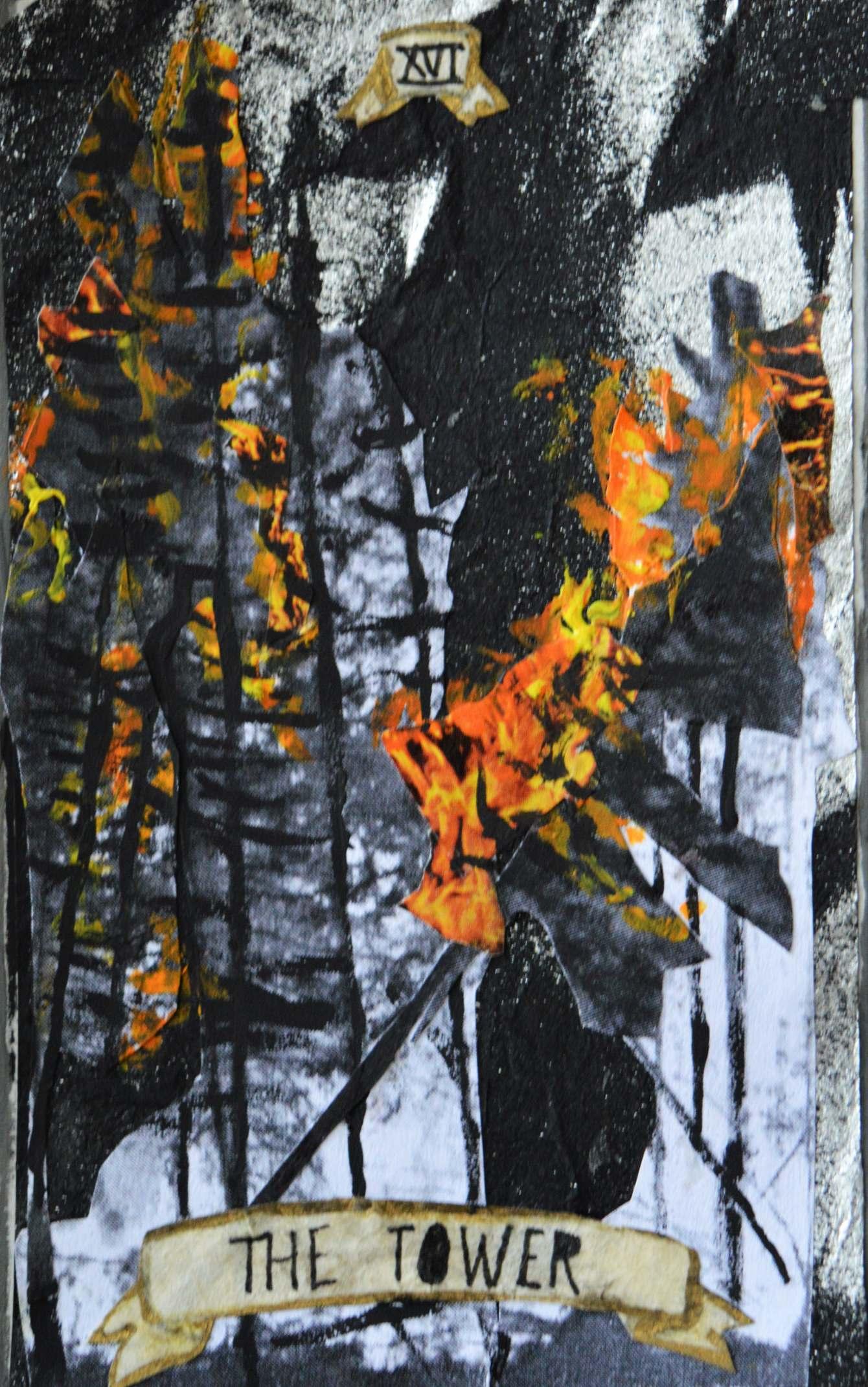 Collage Tarot Project - Irene Mudd