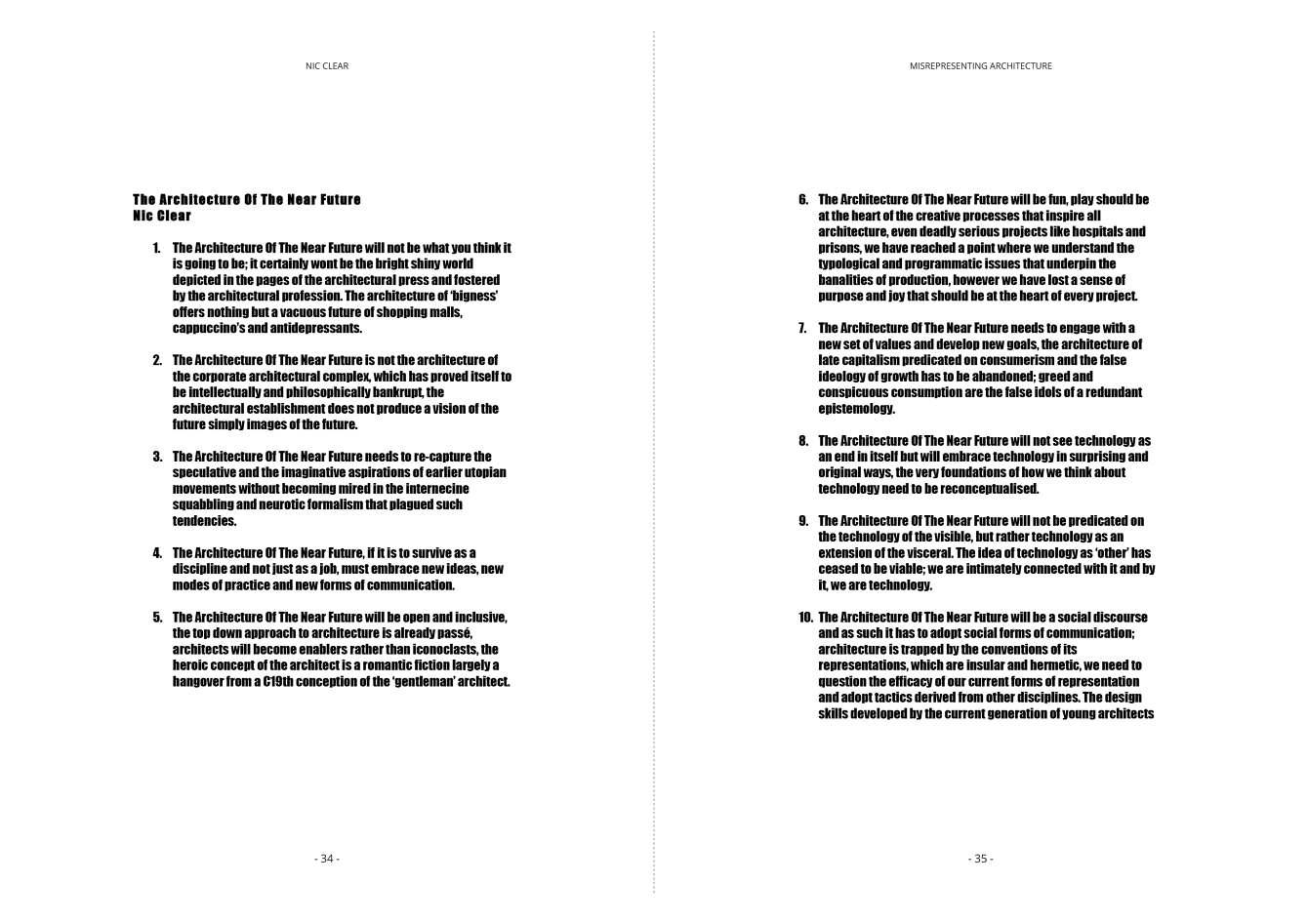 Misrepresenting Architecture - Professor Nic Clear