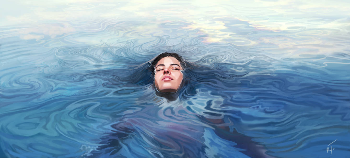 head above water rebekah tisch illustration