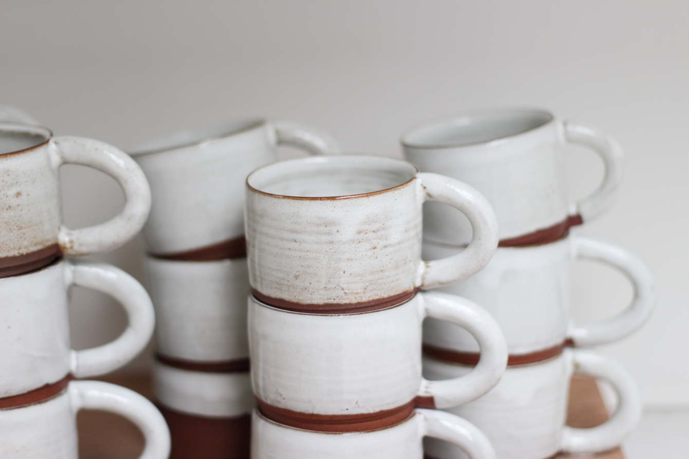 Red Clay Striped Nudie Terracotta Sam Andrew Ceramics