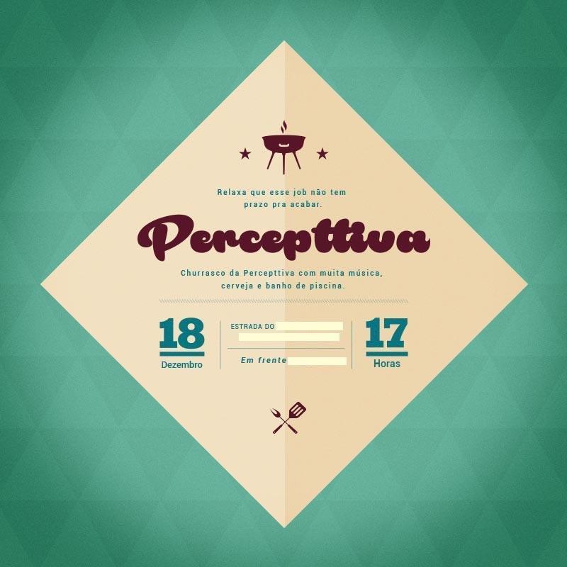 Convite Churrasco Percepttiva Fernanda Freitas