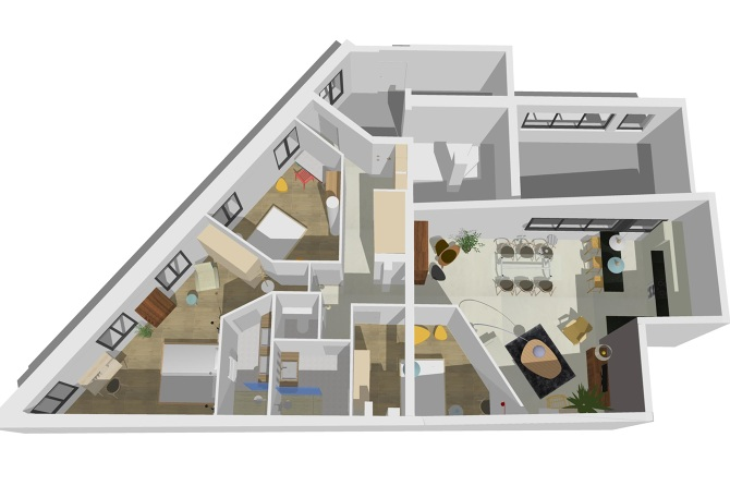 3d appartement c charlinegronstudio - Plan 3d salon ...