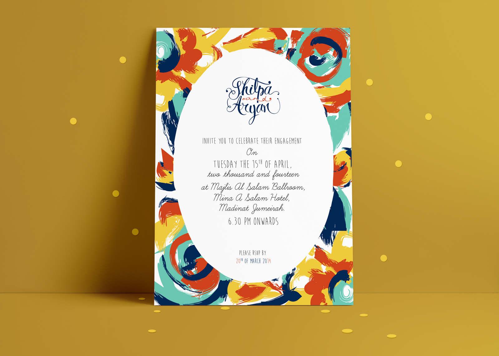 Engagement Invitation Anjana Jain