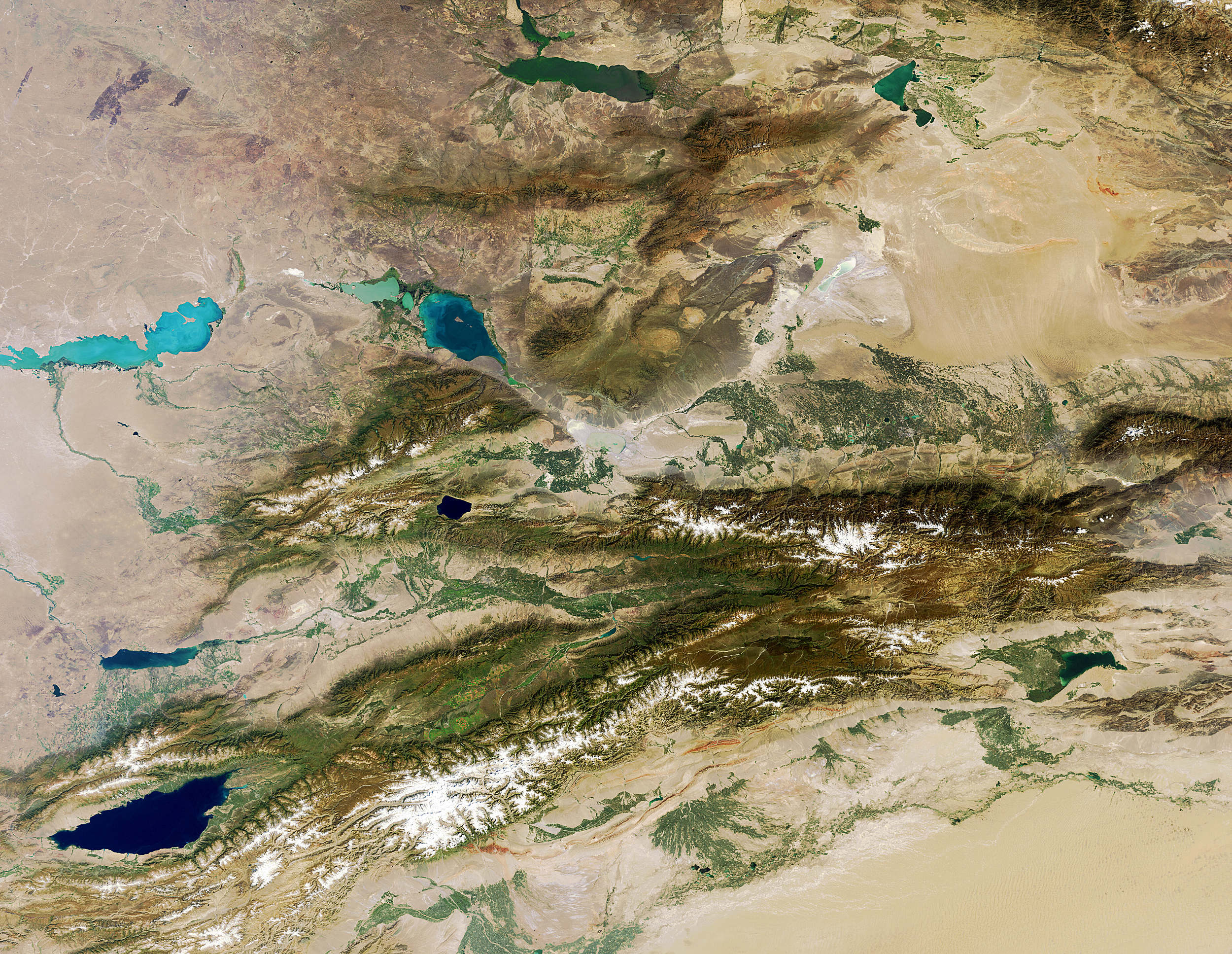 Picture of: Tian Shan Mountains Central Asia Ikonos Cargo Example Site