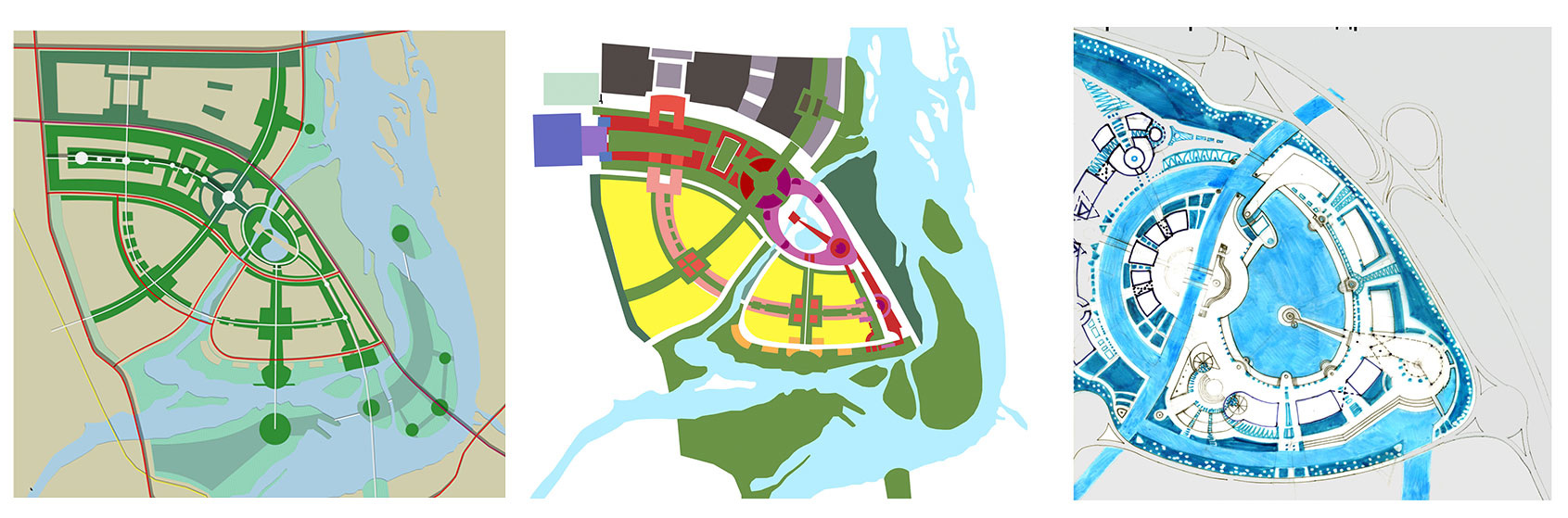 Urban planning concept of new business district - Natalia