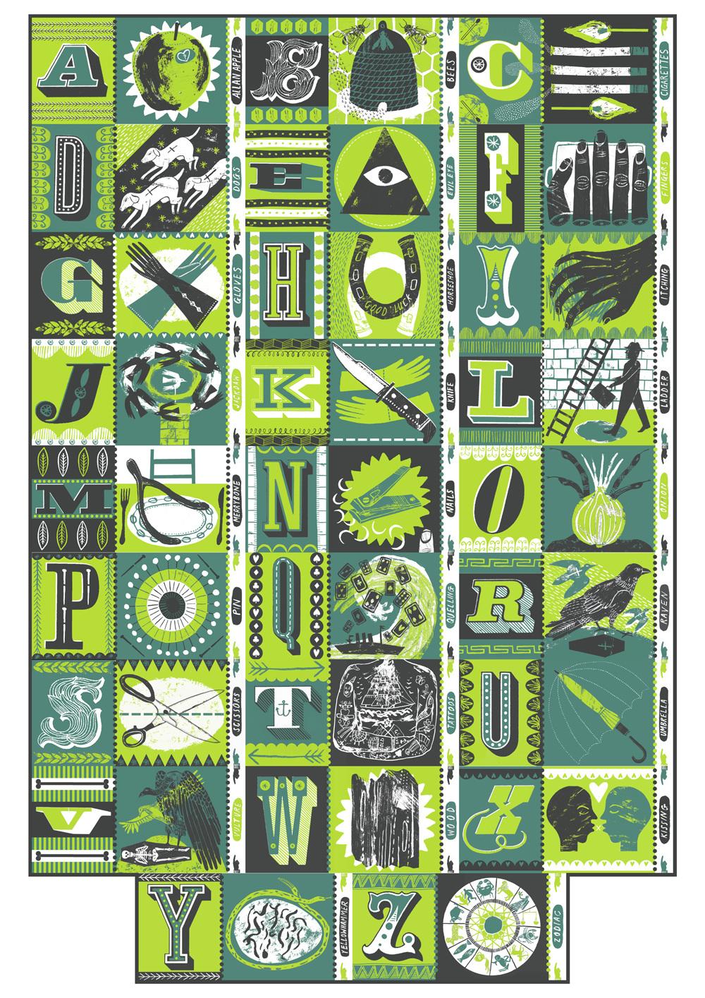 Alphabet of Superstitions - Alice Pattullo Illustration