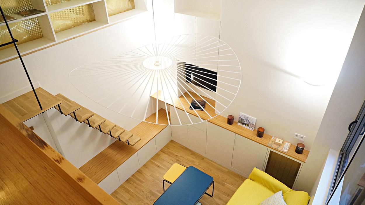 Aménagement Mezzanine Petit Espace petit pari - architecte paris 18ème - bardin architecte