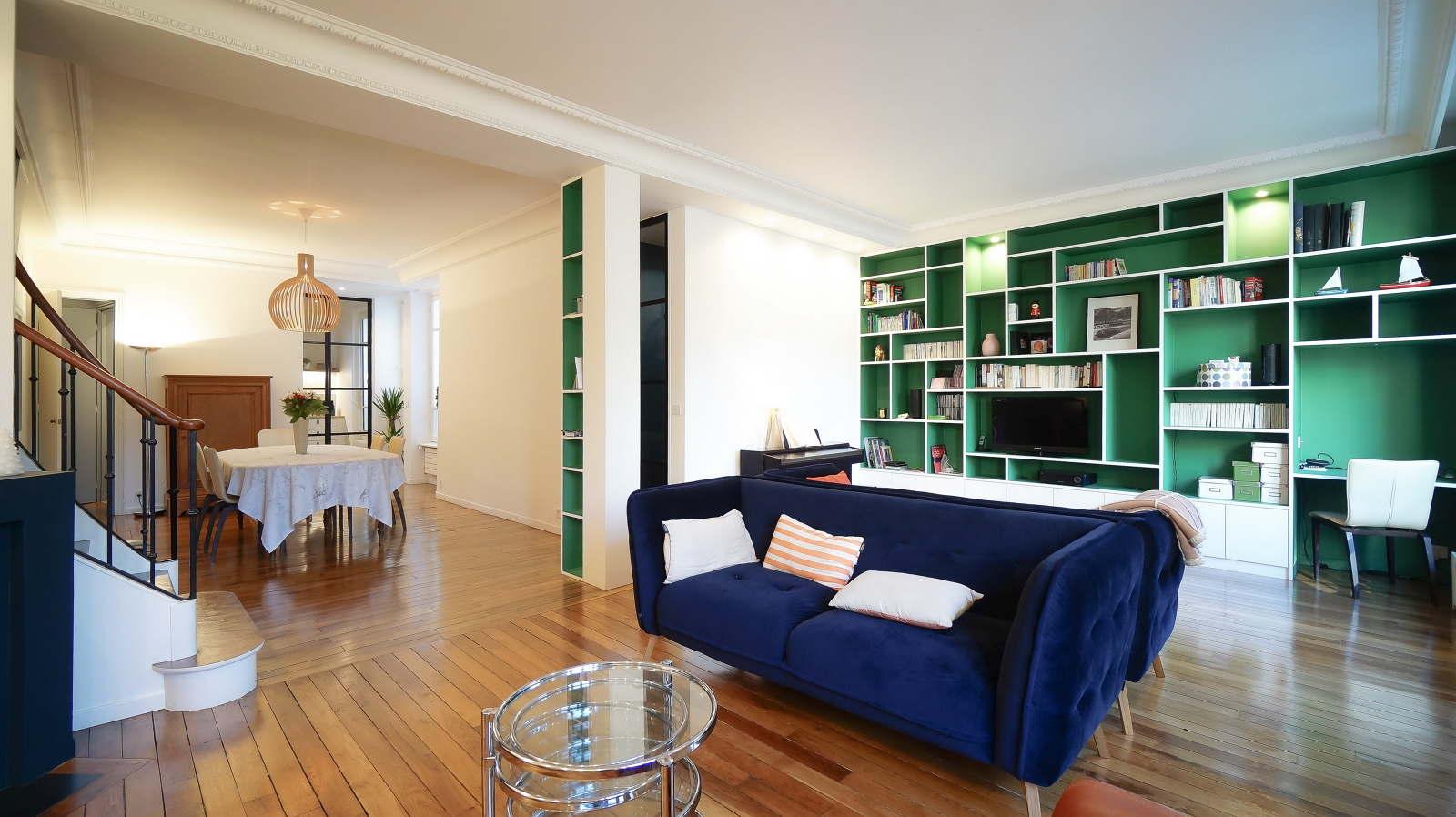 Architecte Interieur Paris 18 vert le bleu - architecte paris 18ème - bardin architecte