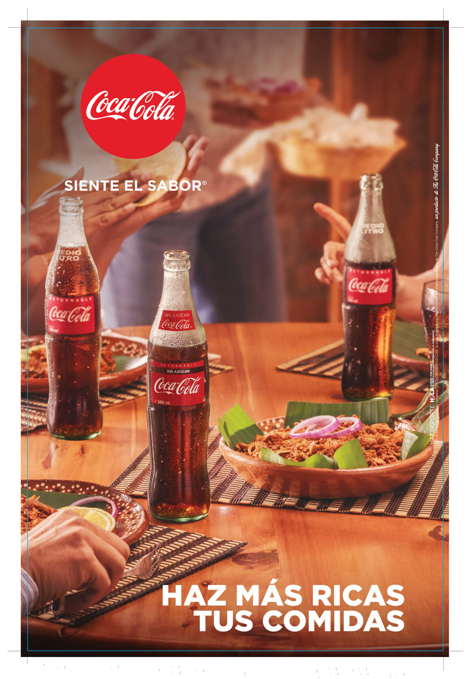 coca-cola goes well with food - Miguel Centeno
