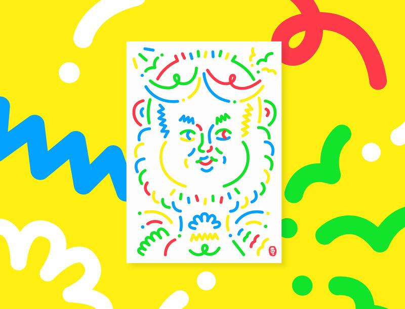 NAVER Webtoon Art Poster - y-o-p