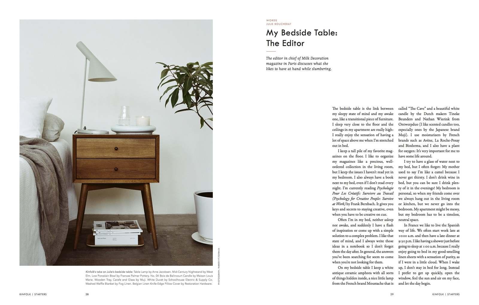 Kinfolk Magazine Julie Boucherat