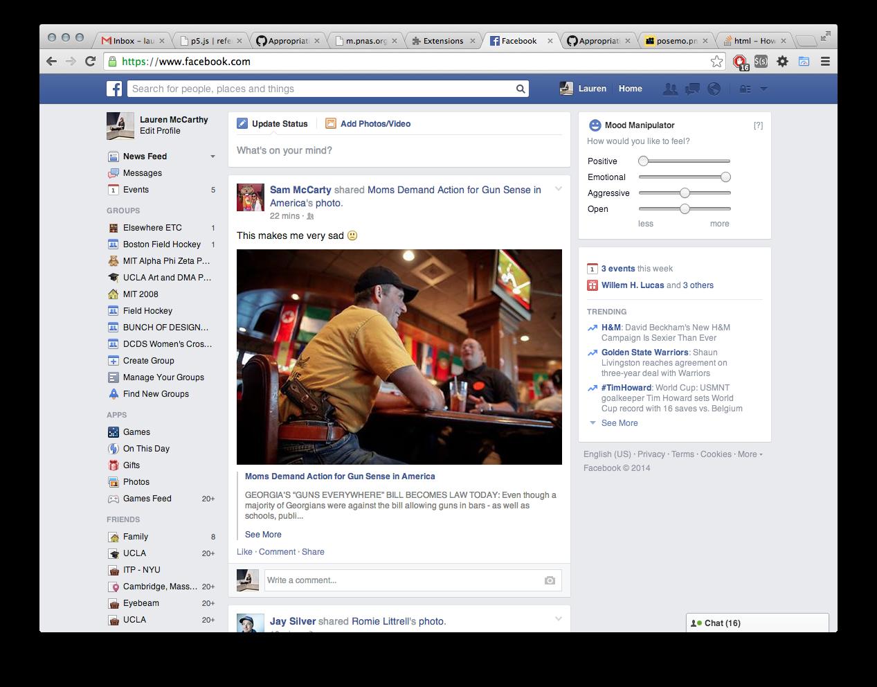 Facebook Mood Manipulator - lauren mccarthy