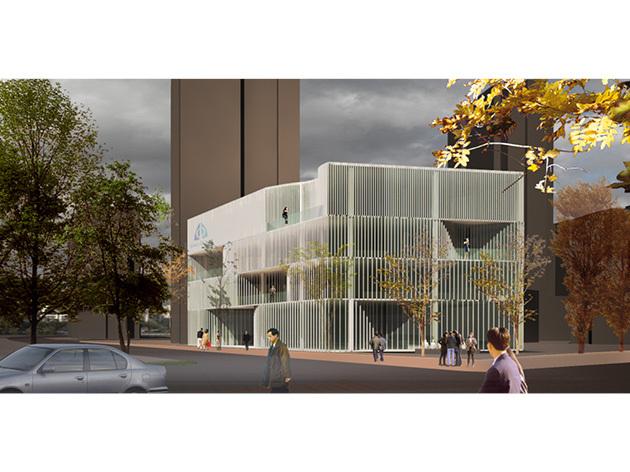 Office facade design Tropical Facade Design For Sino Ocean Sales Office Studio Kota Architecture Facade Job Studio Kota Architecture