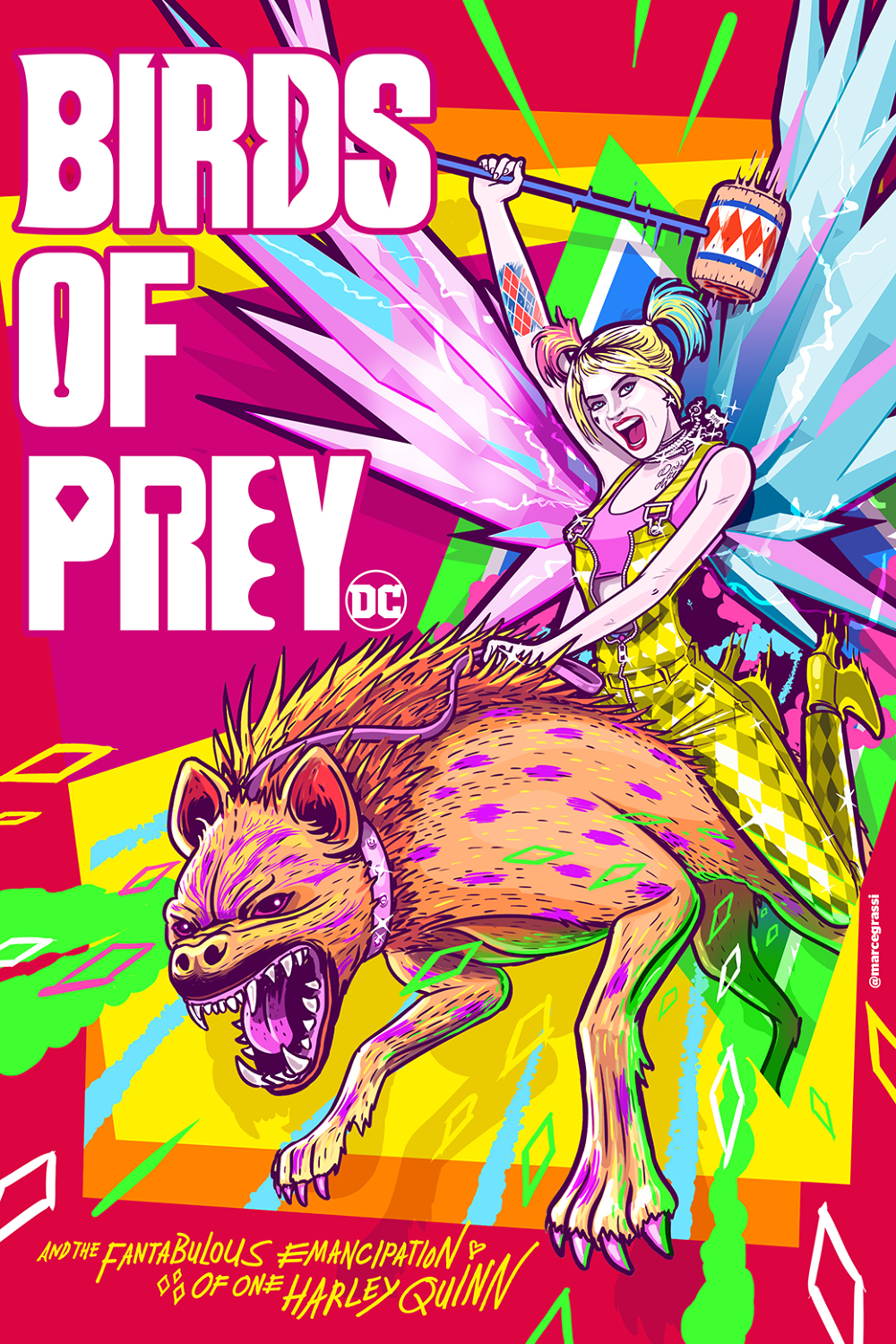 Birds Of Prey Alternative Movie Poster Marcelo Grassi Portfolio