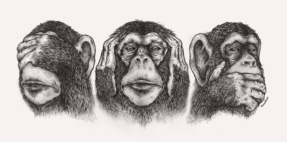 3 wise monkeys - Musber