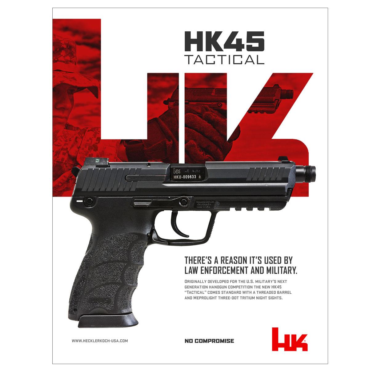 Heckler & Koch HK45 Tactical Ad - Visual Foundry