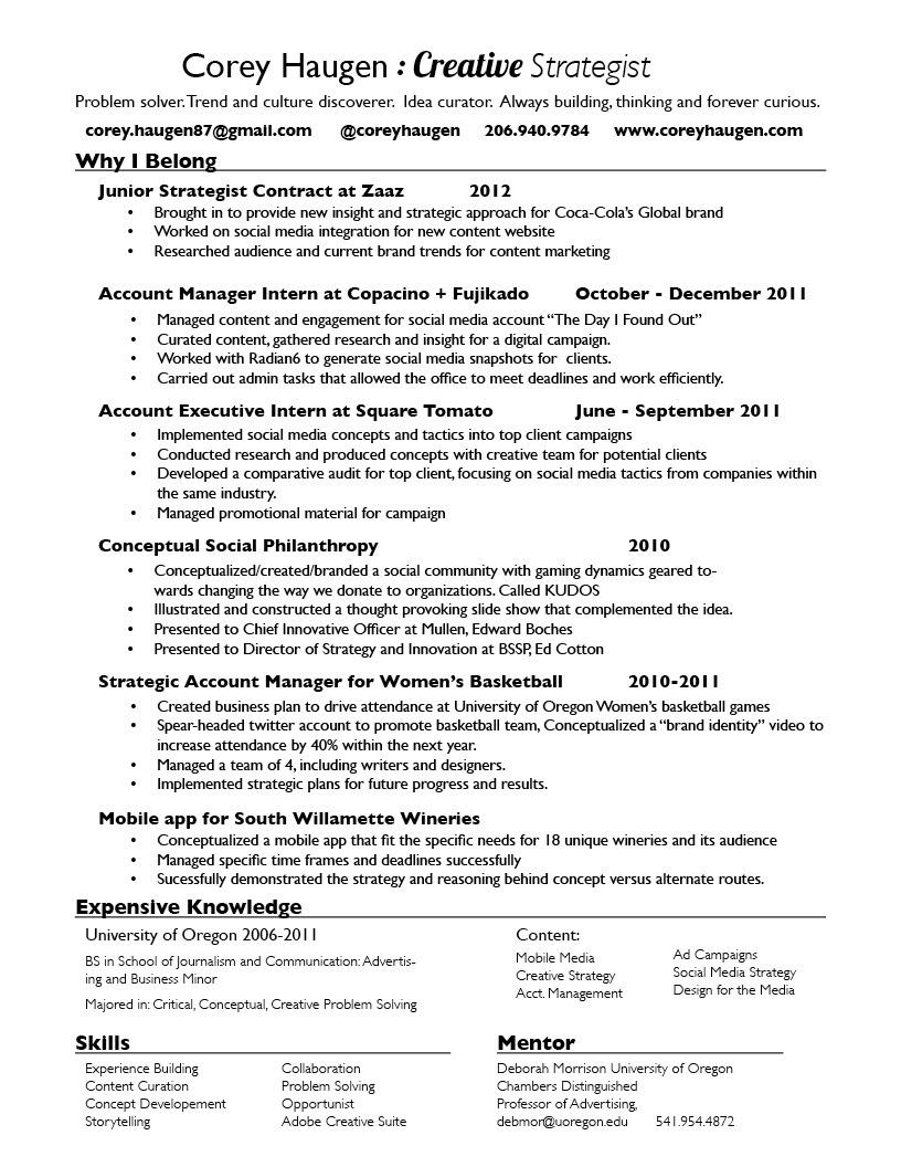 Resume - Insight.Strategy.Emotion