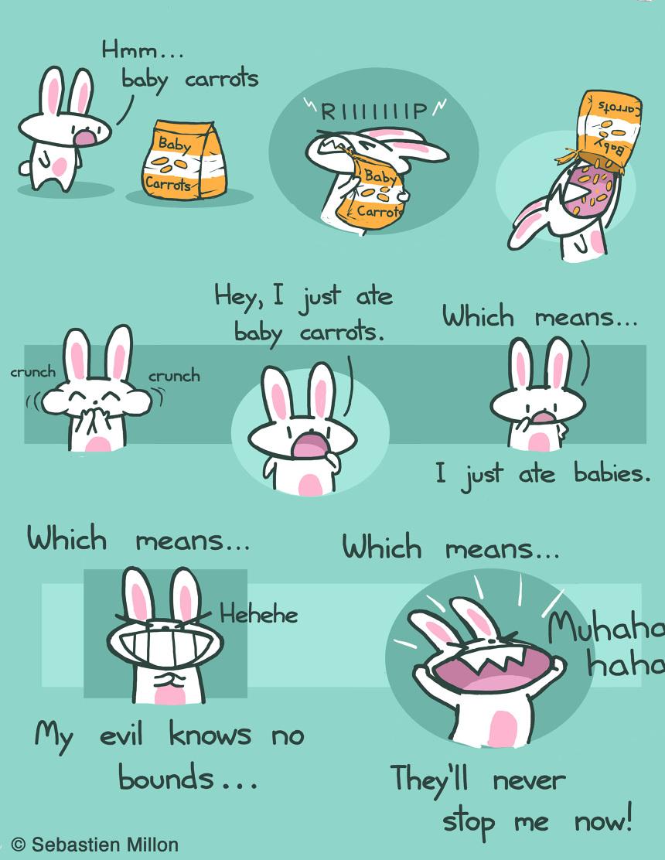 Bunny Logic 12x18 Art Print 35
