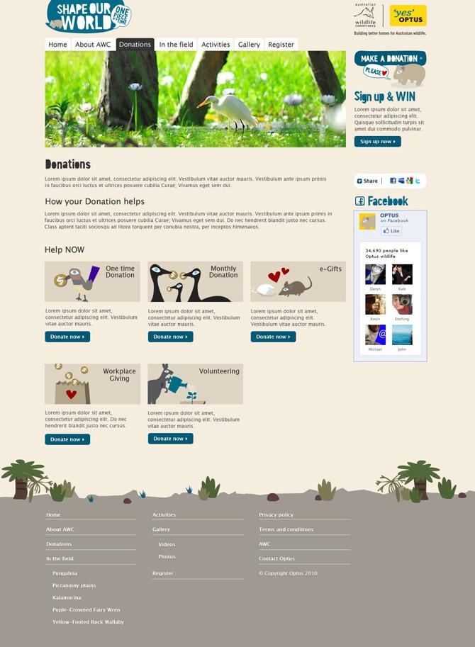 Optus AWC Website - Benjamin Chen