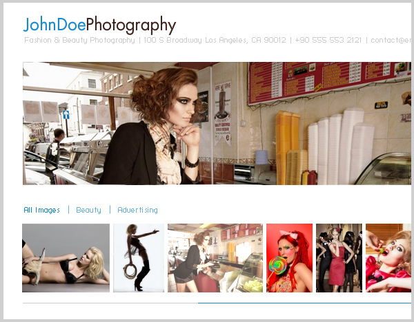 Free Portfolio Template For Fashion Photographers And Retouchers - Photography ad template
