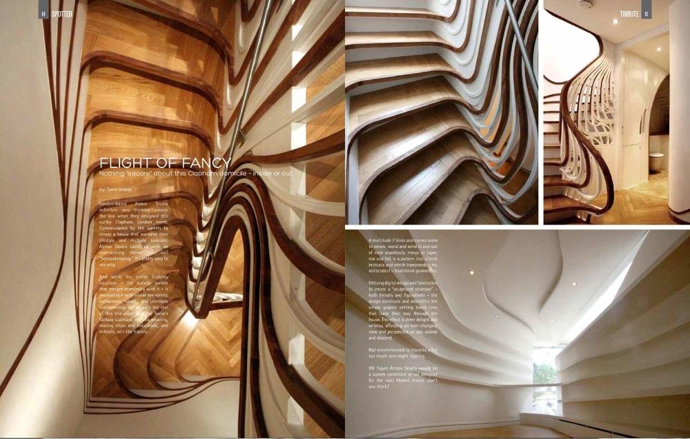 beautiful holz treppe design atmos studio photos
