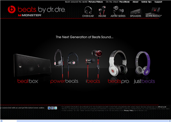 B2C: Website Slideshow Beats by Dr. Dre - Eric Rosen Senior Copywriter