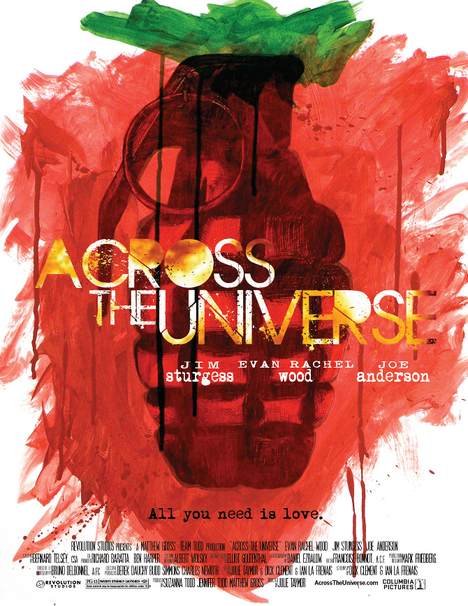 across the universe movie poster jessica kaiser