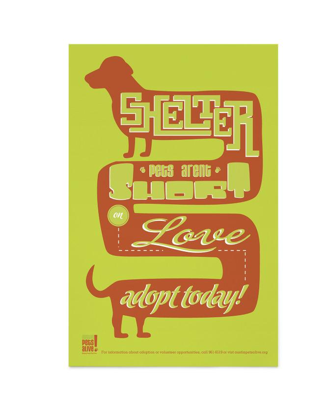 Austin Pets Alive! Poster - sarah perry | graphic design