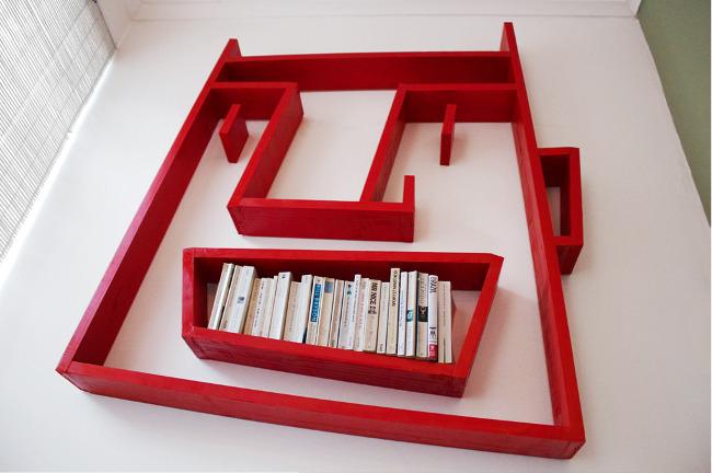 Especial: Estante de livros que imita caricatura. 18