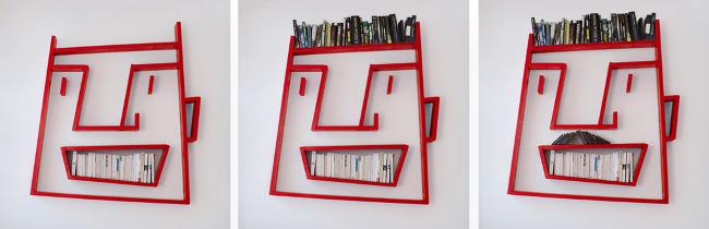 Especial: Estante de livros que imita caricatura. 19