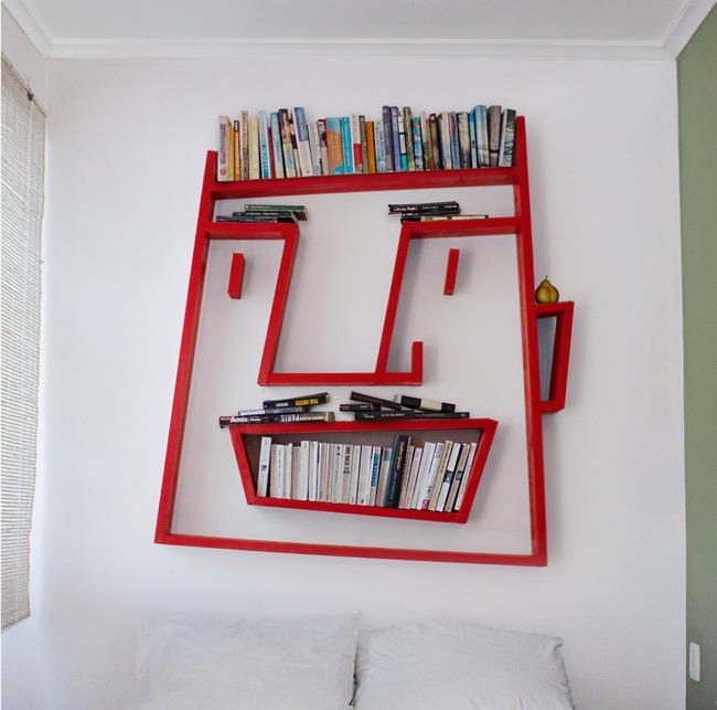 Especial: Estante de livros que imita caricatura. 20