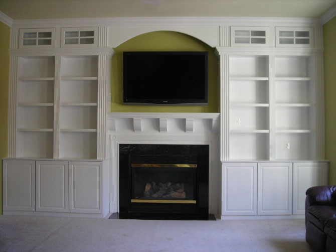 custom built fireplace entertainment center 2