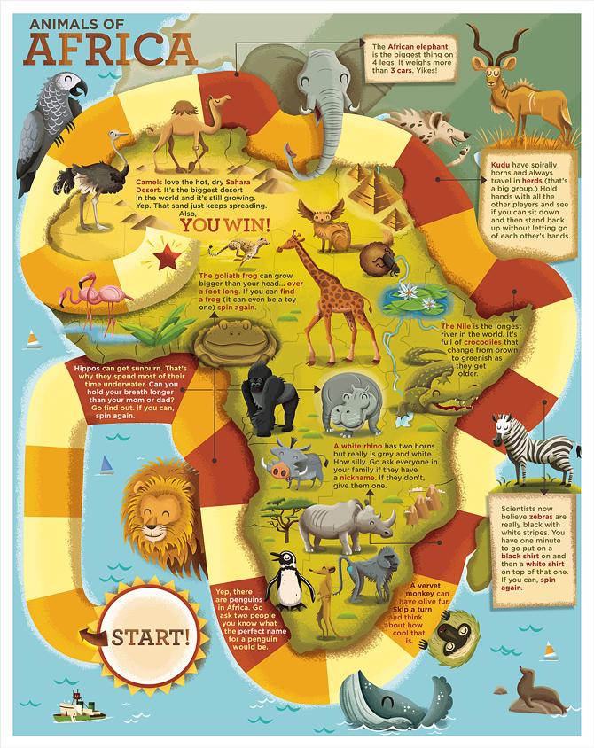 Kid Map Of Africa.Our Big World Dpsullivan