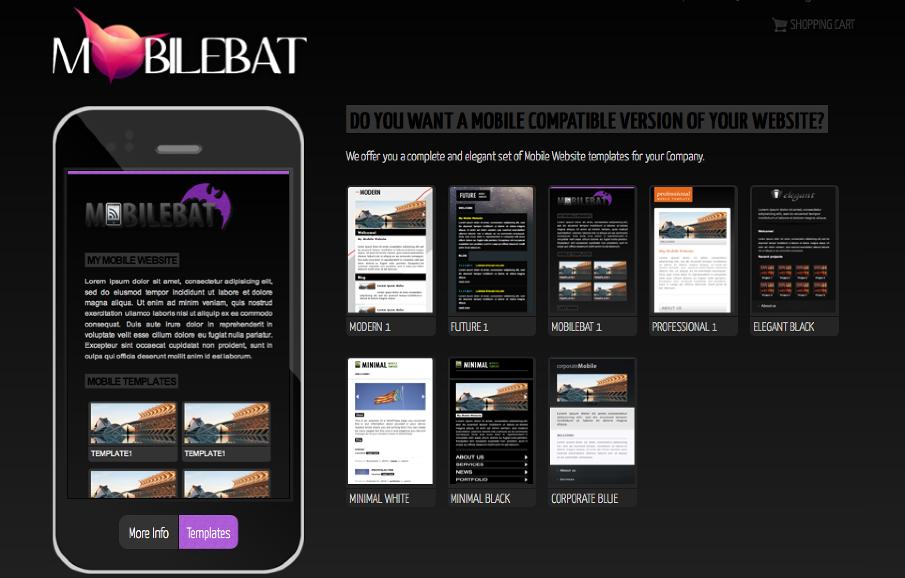 Mobilebat - WordPress mobile website templates - LM - Web Design