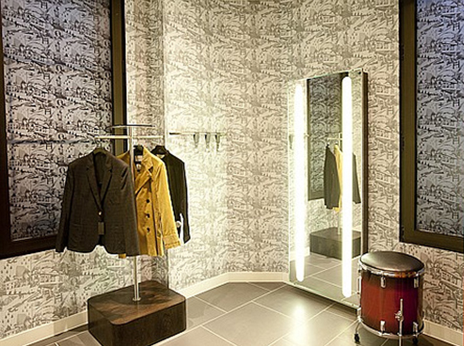 Topman Store Wallpaper Design